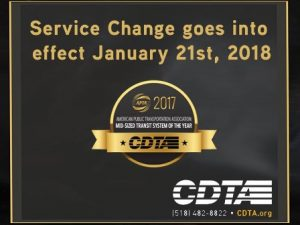 CDTA Rate Changes 2018